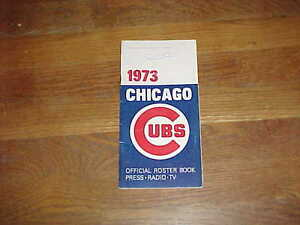 1973 Chicago Cubs Baseball Media Guide Billy Williams