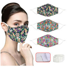 Adult Unisex Washable Anti-spitting Protective Face Cover Floral Print MouthMask