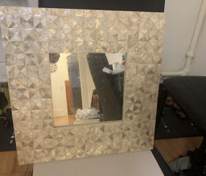 Decorative Hanging Wall Mosaic Mirror mid modern Collage