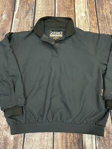 Zero Restriction ZR Golf Jacket GoreTex GTX Rain 1/4 Pullover Black Womens M USA