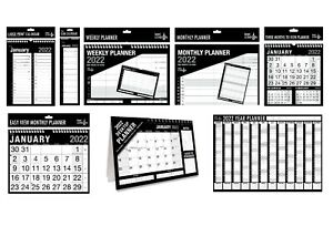 2022 Wall Calendar Slim, Large Month to View Planner, Easy View Calendar Planner