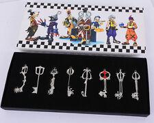 NEW Kingdom Hearts Japan Anime Cosplay Necklace Key Chain Set