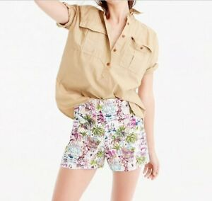 "J.Crew Women's Size 6 Harbor Print Sailor Shorts Floral 3"" Inseam Shorts"