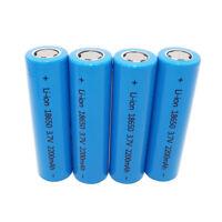 4X INR 18650 2200mAh 3.7V Li-ion High Drain Battery Flat Top Rechargeable-Vape