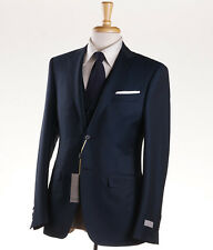 NWT $2395 CANALI 1934 Petrol Blue 3-Piece Wool and Mohair Suit 38 R Slim-Fit