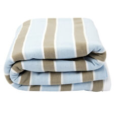 Lil Fraser Collection Oscar Baby Wrap Pale Blue and Beige Jersey Cotton Swaddle