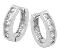 Ohrringe Creole Silber 925 Zirkonia weiss mit Anlaufschutz   Neu  Artikel 4053