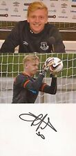 EVERTON: CONNOR HUNT SIGNED 6x4 WHITECARD+2 UNSIGNED PHOTOS+COA