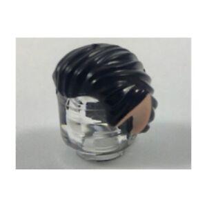 LEGO - Minifig, Hair Swept Back with Pointy Light Flesh Elf Ears Pattern - Black