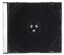 Slim CD Jewel Case 5mm Black Tray Single CD DVD Media Disc Storage 2pk