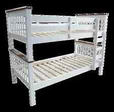 KING Single Bunk Bed  - 2 tone ( White with Walnut trim )