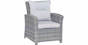 Lounge-Sessel aus Polyrattan Wave Cliff Gartenmöbel-Terrassenmöbel