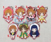 T066 Hot Anime CARDCAPTOR SAKURA Rubber Keychain Key Ring Schlüsselanhänger