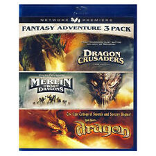 Fantasy Pack: Dragon Crusaders/Merlin & the War of the Dragons /Dragon - Blu Ray