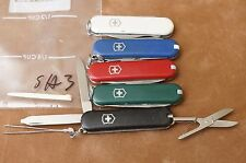 SA3 LOT of 5 different colors Victorinox Classic SD Swiss Army knives knife
