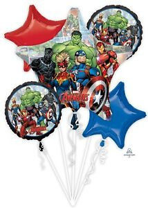Avengers End Game Happy Birthday Party 5CT Foil Balloon Bouquet