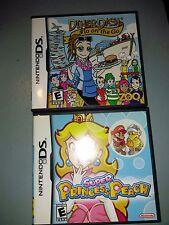 Super Princess Peach  and Dinner Dash Nintendo DS Games