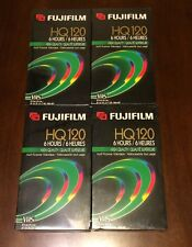 Lot OF 4 Fujifilm HQ120 Blank VHS Tapes - New Sealed
