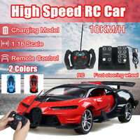 1:16 Scale High Speed RC Car Off Road Vehicle 2.4G 10km/h Racing Remote Control