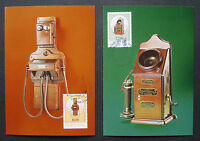 "Portugal 1982:Set MK maximum stamp cards first day ""Telefon/Telephone"" MN1562/63"
