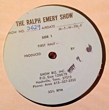 RADIO SHOW: RALPH EMERY SHOW 5/7/81 CHARLY McCLAIN  GUEST CO HOST; 1 HR