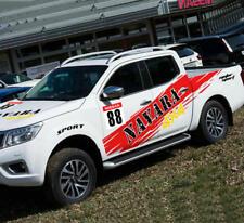 Graphics Motorsport Car Sticker Stripe Hood Decal For Nissan Navara Pickup Truck