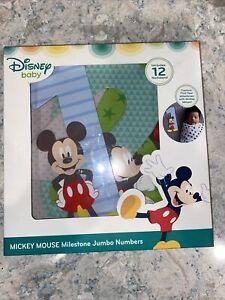 Disney Mickey Mouse Milestone Jumbo Numbers Set Baby Milestone Photo Props