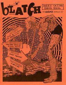 BLATCH #11 Jim Blanchard punk zine fanzine SIGNED 1985 Free shipping Black Flag