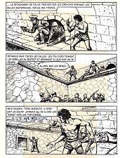 TAROU CONTRE LES SOLDATS JAPONAIS (BOB DAN) PLANCHE ORIGINALE  PAGE 32 SIGNEE