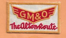 """GM & O THE ALTON ROUTE  RAILROAD PATCH  3 3/8""""  ***"""