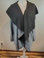 LIVI Active Size 26/28 Women's Cardigan Gray Black Draped Open Front Sweater