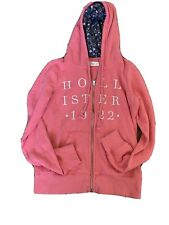 HOLLISTER Women's Pink Hoodie Zip Up Size Small