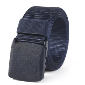 123--125cm New men's canvas sports outdoor nylon buckle leisure belt