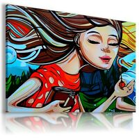 ABSTRACT GIRL MODERN DESIGN CANVAS WALL ART PICTURE LARGE SIZES AB827 X