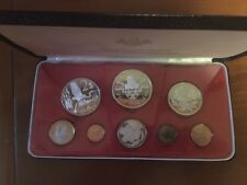 1974 CAYMAN ISLAND 8 PIECE PROOF SET w/ 4 SILVER COINS