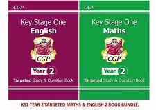 KS1 YEAR 2 SATS TARGETED ENGLISH & MATHS 2 BOOK BUNDLE FOR AGES 6-7