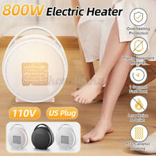 800W Mini Ceramic Electric Heater Home Office Space Heating Portable Fan Silent