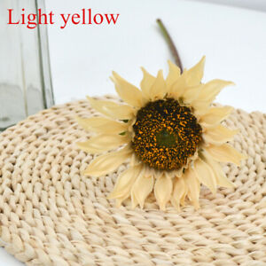 Artificial Large Sunflowers Bouquet Fake Silk Flowers Home Wedding Party Decor