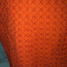 Coldwater Creek Straight Pencil Style Skirt eyelet Lined Slit Back orange size 4