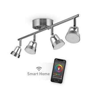 Globe Electric 2 ft. Wi-Fi Smart Brushed Nickel White LED Track Lighting Kit