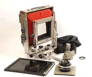 BURKE & JAMES GROVER  8x10 Camera + FUJI 250mm Lens Film Holder Case & More EX++