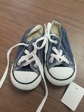 Navy K20 New w//defect Toddler Converse All Star 307907F Frayless Slip-On