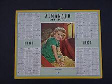 Calendrier Almanach 1960 poussin fille PTT calendar France calendario Kalender