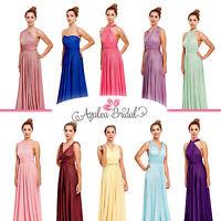 New Maxi Twist Wrap Convertible Multi Way Bridesmaids Prom Dress