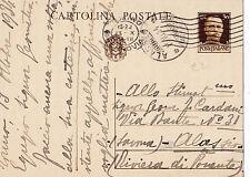 CARTOLINA POSTALE 30 CENT. 1934 DA TORINO AD ALASSIO  C3-54