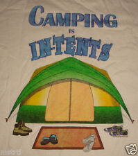 CAMPING IS IN-TENTS PROJECT BIO T SHIRT SZ XL GUC