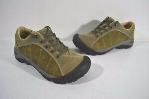 Keen Women's Green Leather Presidio Walking Comfort Casual Shoes Sz 6