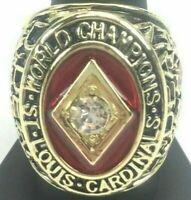 1934 ST. LOUIS CARDINALS Championship Ring World Series 18k GOLD PLATE Sz 11 USA