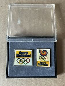 Vintage 1988 Seoul Korea Olympics Games Sports Illustrated Pin Set Of 2 In Case
