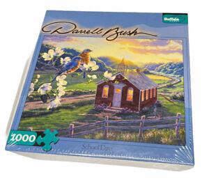 New Darrell Bush School Days 1000 Piece Jigsaw Puzzle Sealed Birds Light Land